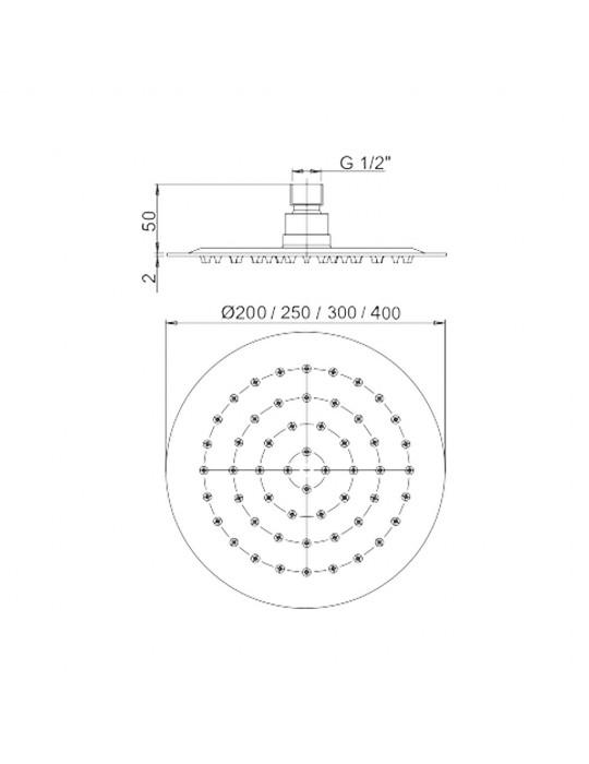 Kit doccia da incasso con deviatore rotativo completo di braccio soffione doccia Paini Cox shower line 78CR433D Paini 205,00€