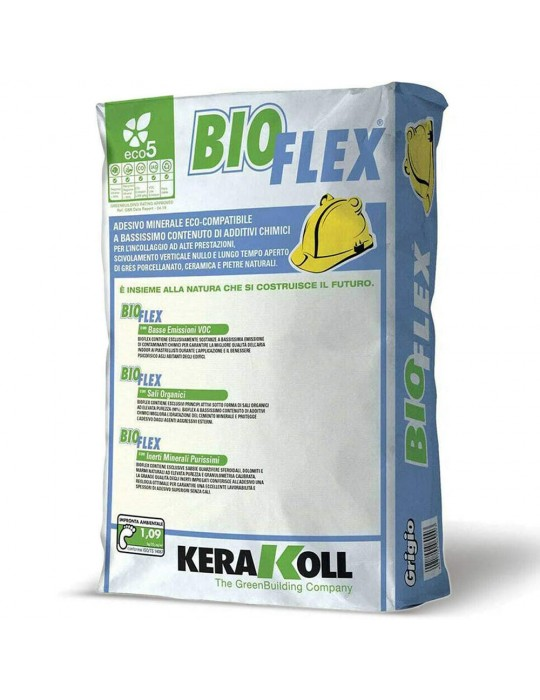 Kerakoll-Adesivo grigio minerale eco-compatibile BioFlex Kg 25 Kerakoll 12,51€
