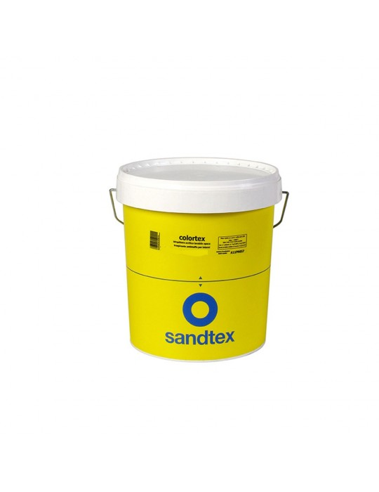Sandtex-Colortex Idropittura lavabile opaca resistente alla muffa per interni Bianco Lt 5 A610p2075 Sandtex 39,00€