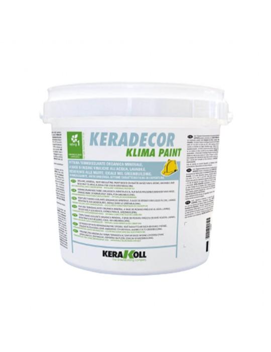 Keradecor-Pittura termoisolante organica minerale Klima Paint Lt 4-23307 Kerakoll 37,00€