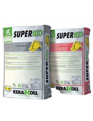 Kerakoll-Adesivo bianco minerale per la posa certificato eco-compatibile SuperBio Kg 25