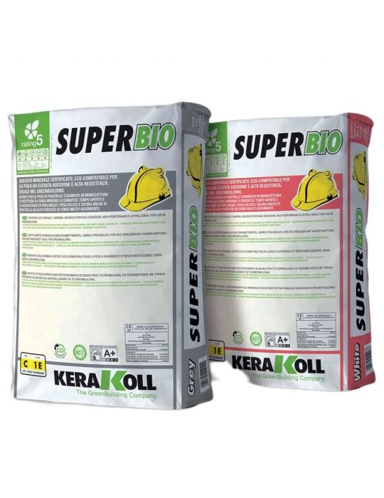 Kerakoll-Adesivo bianco minerale per la posa certificato eco-compatibile SuperBio Kg 25 Kerakoll 8,41€