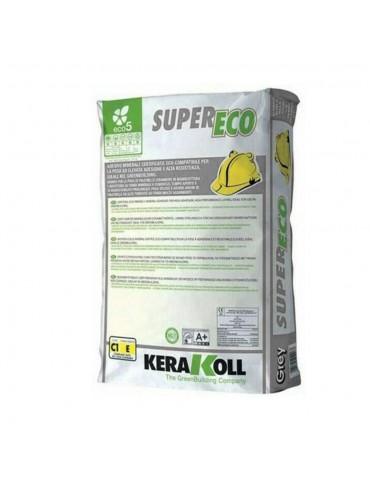 Kerakoll-Adesivo grigio minerale per la posa certificato eco-compatibile SuperBio Kg 25