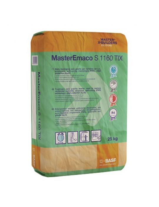 MasterBuilders-Malta tixotropica, strutturale, a presa normale per il rispristino del c.a. kg 25-MasterEmaco Master Builders ...