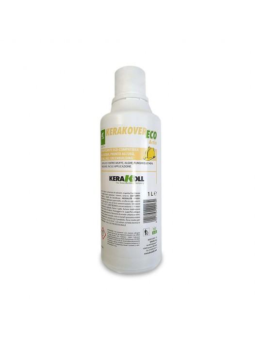Kerakover-Eco Active bonificante eco-compatibile all'acqua, ideale contro muffe, alghe, funghi e licheni, inodore Lt 1 Kerako...