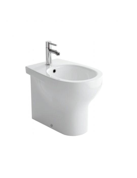 Bidet a terra monoforo filo muro bianco-GR011.BI Globo-Grace Ceramica Globo 142,00€