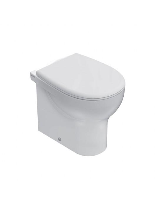 Vaso a terra monoforo filo muro bianco-GR006BI Globo-Grace Ceramica Globo 120,00€