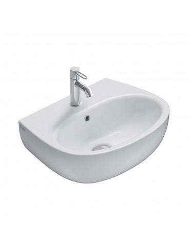 Lavabo cm 55 mono/predisposto a tre fori bianco-GR055.BI Globo grace