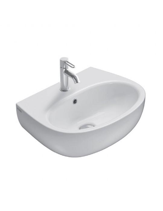 Lavabo cm 55 mono/predisposto a tre fori bianco-GR055.BI Globo grace Ceramica Globo 80,00€