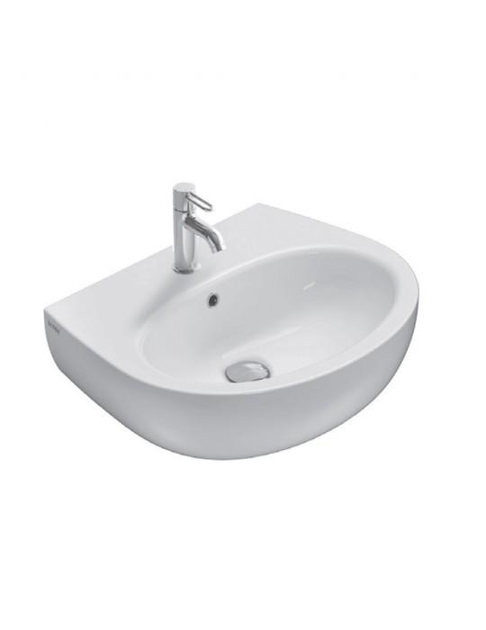 Lavabo cm 60 mono/predisposto a tre fori bianco-GR060.BI Globo Grace Ceramica Globo 65,00€