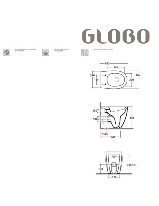 Vaso a terra cm 54 bianco-MD002BI Globo-4ALL Ceramica Globo 248,00€