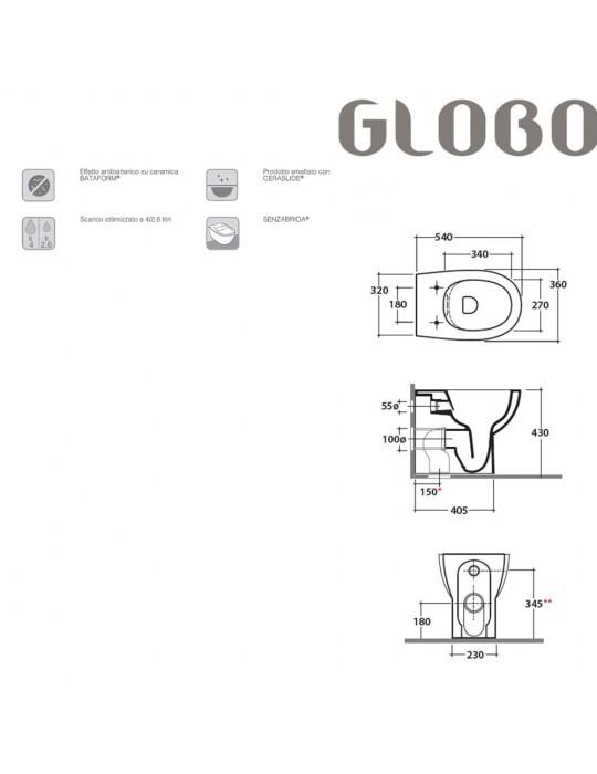 Vaso cm 54 SENZABRIDA bianco-MD003BI Globo-4ALL Ceramica Globo 236,00€