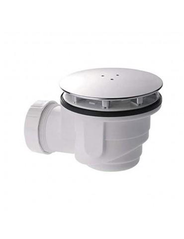 Piletta per piatto doccia con foro 90 sifoide con coperchio ABS 120 Lusso-DS008