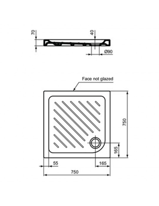 Piatto doccia 75x75 Gemma 2 bianco quadrato-J526101 IdealStandard Ideal Standard 100,00€