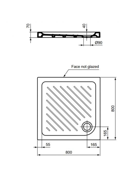 Piatto doccia 80x80 Gemma 2 bianco quadrato-j526201 IdealStandard Ideal Standard 130,00€