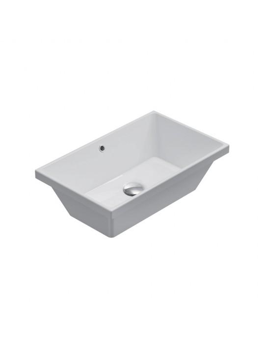 Lavabo cm 55.34 h.17 incasso STOCKHOLM bianco-FO056.BI Globo Ceramica Globo 144,00€