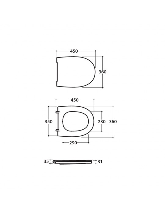 Coprivaso wc in duroplast bianco-MDR19BI Globo-4ALL  65,00€