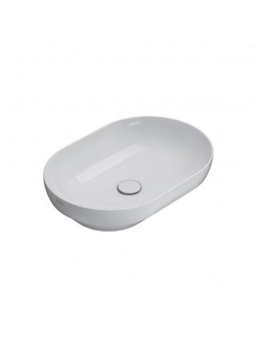 Lavabo incasso appoggio 60X41 T-EDGE bianco-B6061BI Globo