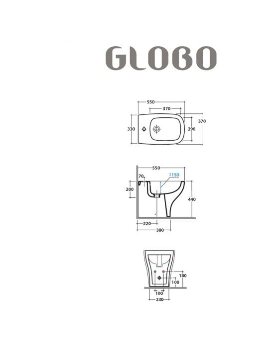 Bidet GENESIS cm 55 bianco-GE009.BI Globo Ceramica Globo 222,00€