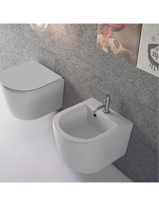 Bidet sospeso FORTY3 cm 43 bianco-FOS12.BI Globo Ceramica Globo 234,00€